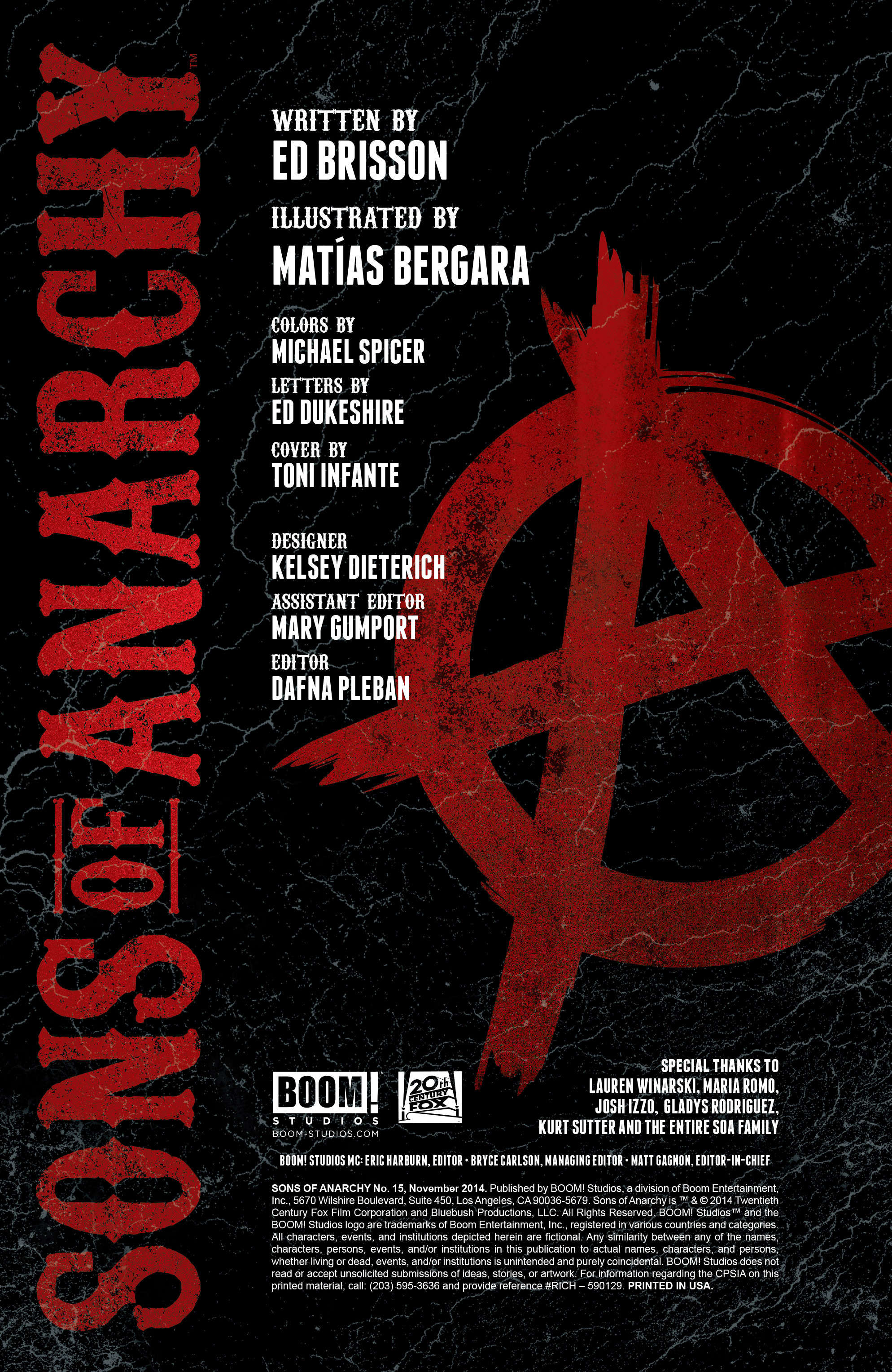 Read online Sons of Anarchy comic -  Issue #15 - 2