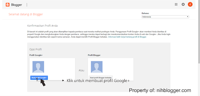 membuat profil google plus