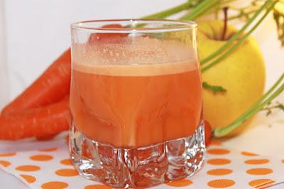 zumo de manzana y zanahoria para limpiar arterias