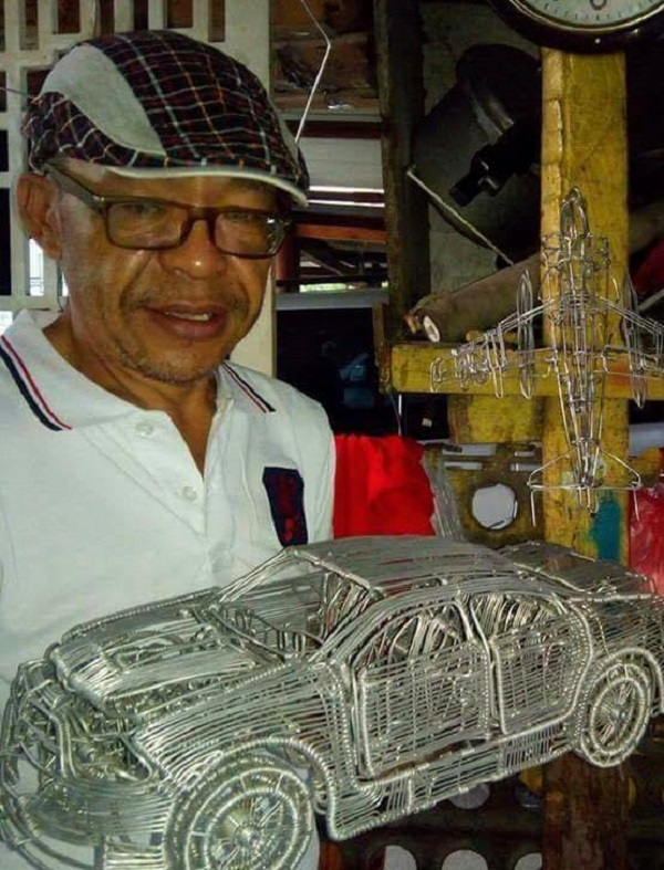 52-Year-Old Filipino Driver Creates Stunning Artwork By Using Aluminum Wires