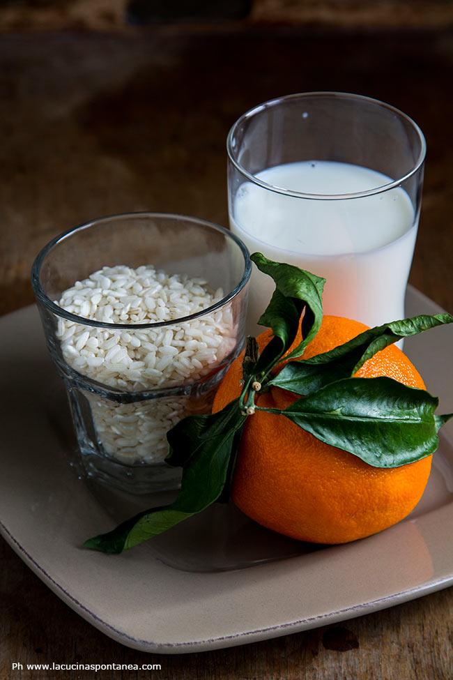 Ingredienti del risolatte agli agrumi