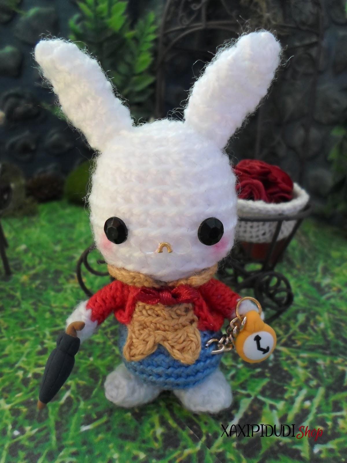 Xaxipidudi shop amigurumis y mucho m s amigurumi alicia en el pais de las maravillas conejo - Conejo de alicia en el pais de las maravillas ...