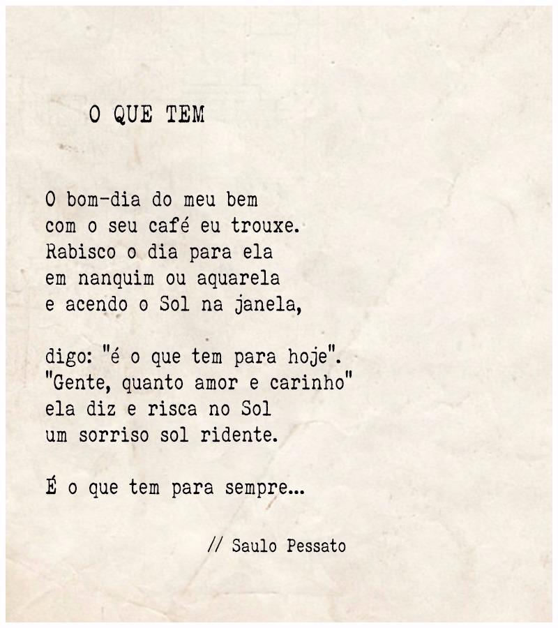 Português Na Tela Poetizando O Que Tem Saulo Pessato