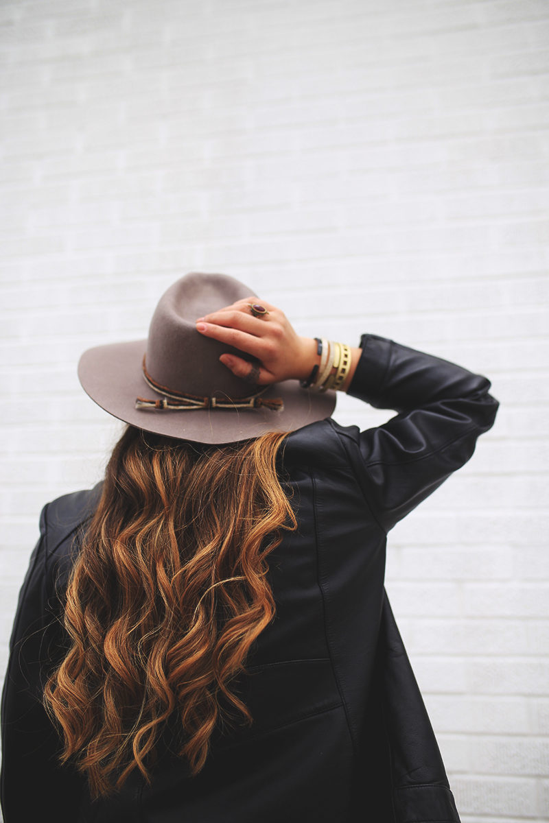 brixton hats, fashion blogger, balayage hair