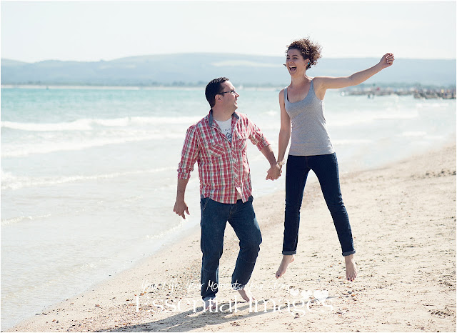 Engaged on the beach photoshoot