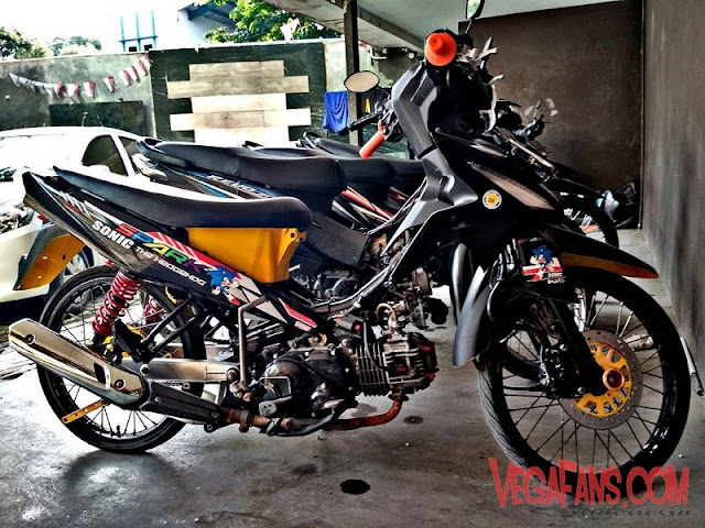 Modifikasi Vega RR Hitam Modif Simple
