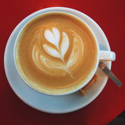 Latte art - Cafe Cognito Aberdeen - Feb 2017