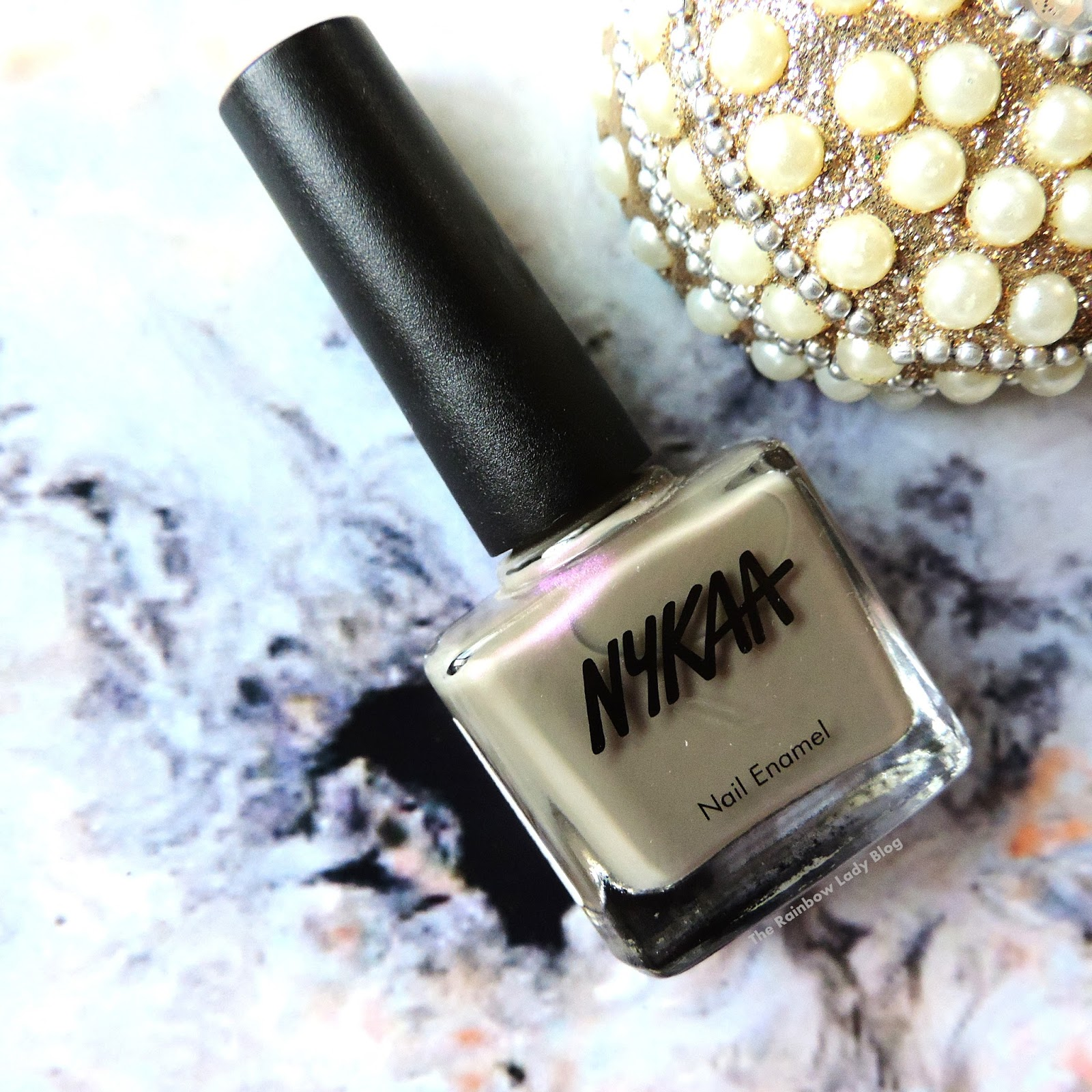 The best taupe nail paint with purple duo chrome - The Rainbow Lady Blog