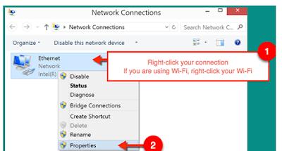 Cara Mengatasi wifi terhubung tapi tidak bisa browsing pada laptop atau komputer
