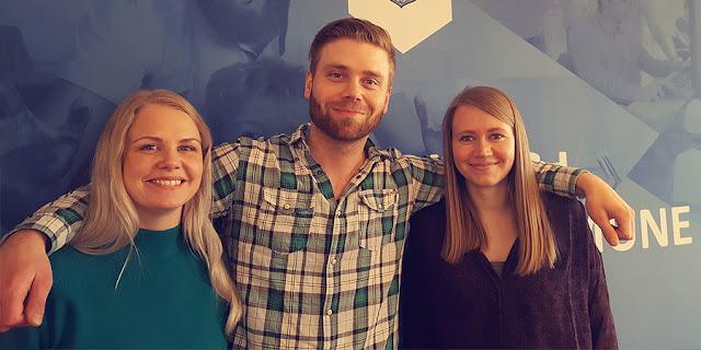 Yrkesfaglærer studenter Lisa Hareide Garnes, John Petter Halsen og Martine Røtvold Haugstad