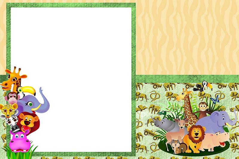 Safari Animais Kit Completo Com Molduras Para Convites