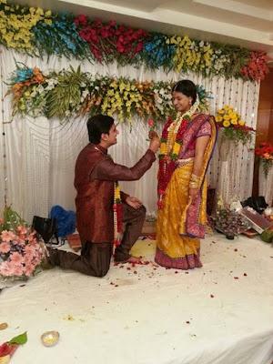 Singer Krishna Chaitanya and Anchor Madhu Mrudula Engagement1