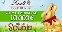 Logo Con Gold Bunny fai vincere migliaia di euro alla tua scuola