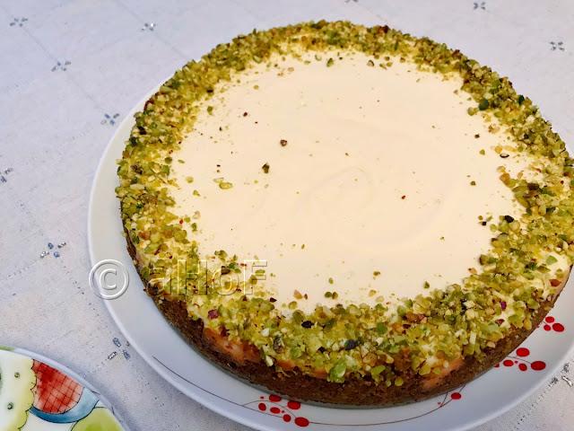 Pistachio & Goat Cheese Cheesecake