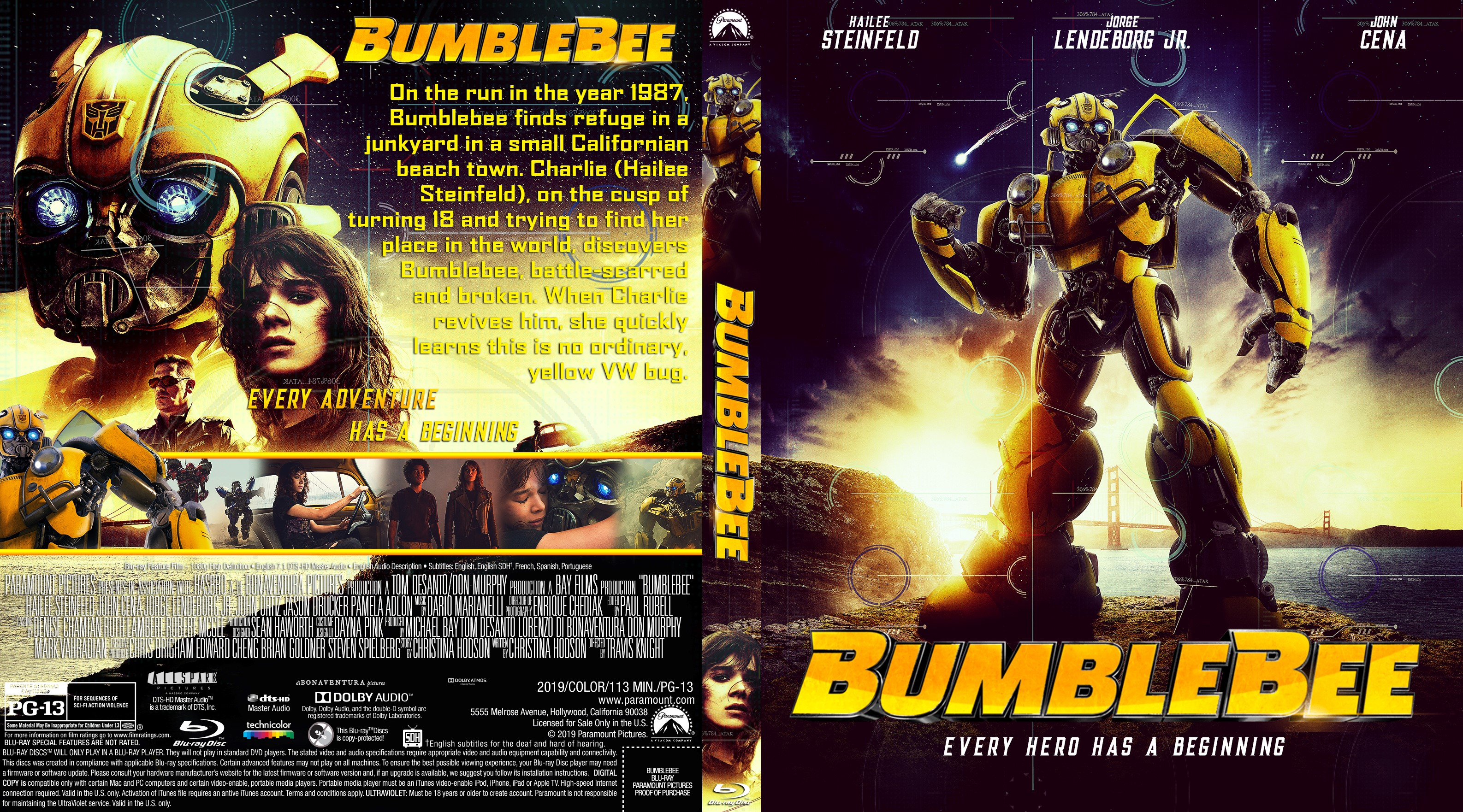 Bumblebee Bluray Cover Cover Addict Dvd Bluray Covers