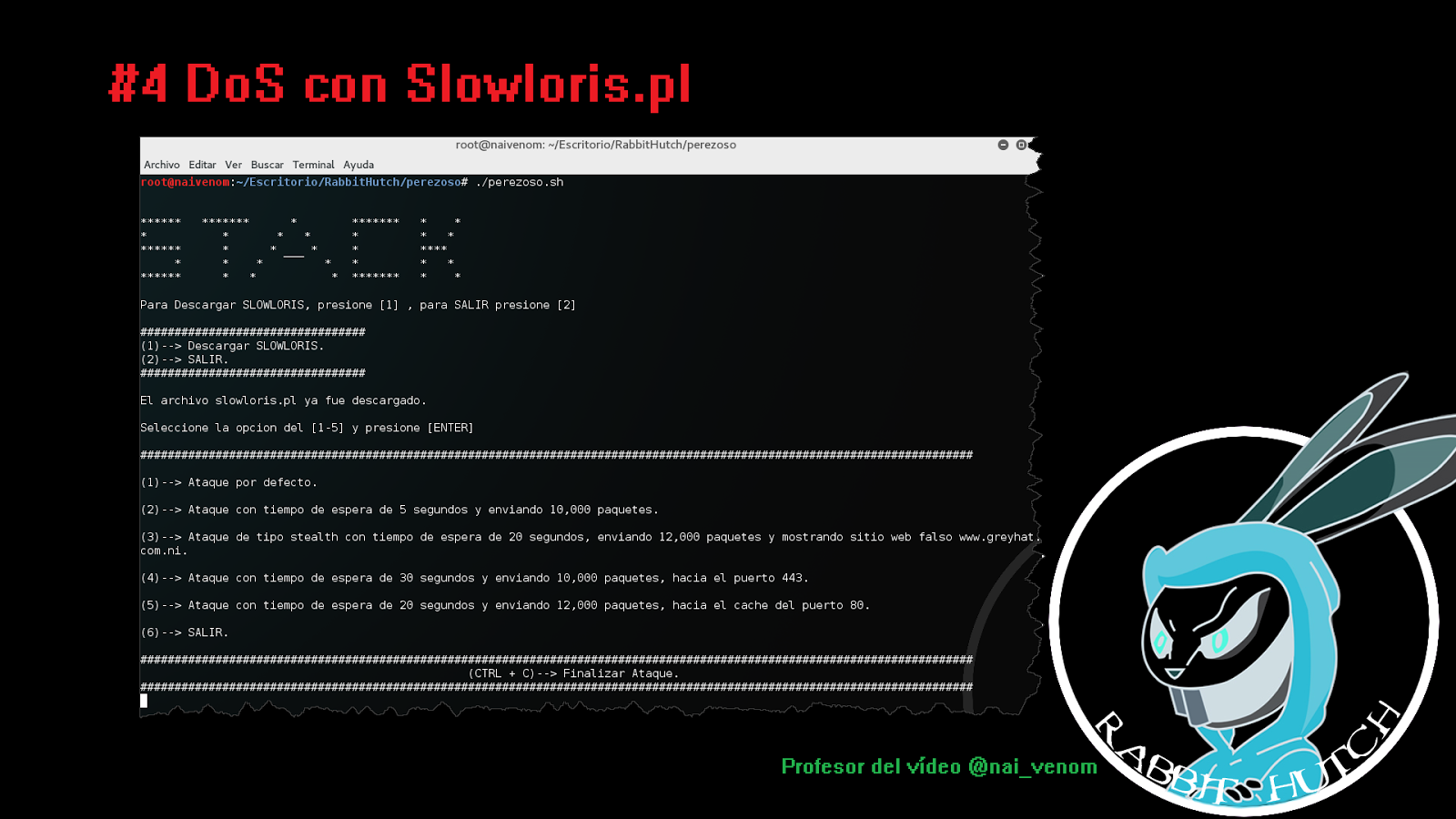 DoS con Slowloris pl – Follow The White Rabbit