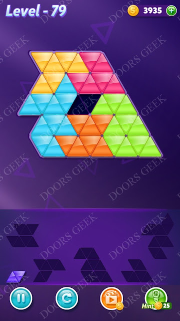Block! Triangle Puzzle Intermediate Level 79 Solution, Cheats, Walkthrough for Android, iPhone, iPad and iPod