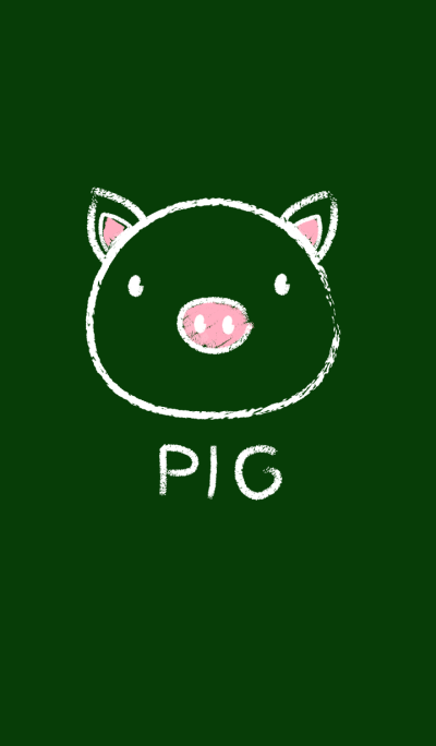 Simple Pig on a Blackboard theme(jp)