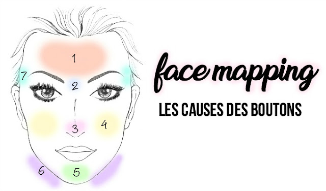 face mapping agathe diary boutons visage