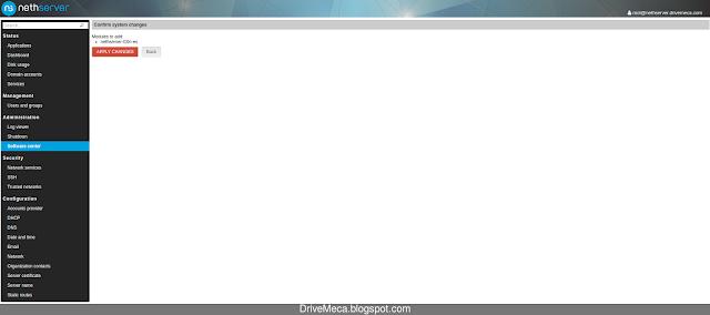 DriveMeca instalando NethServer paso a paso
