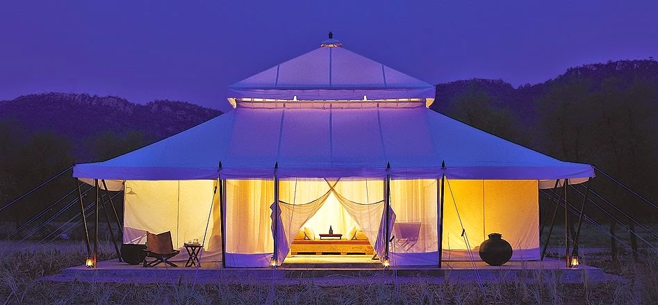 A Luxury Tent at Aman i Khas, Ranthambore