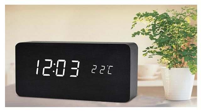 Đồng hồ để bàn led - Hình chữ nhật mini đẹp