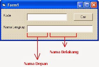 FAQ : Cara Menampilkan Dua Record Dalam Satu Textbox Dengan Visual Basic 6.0