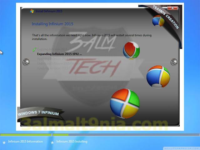 Windows 7 Infinium V.5 2015 X64 - عالم التقنيه