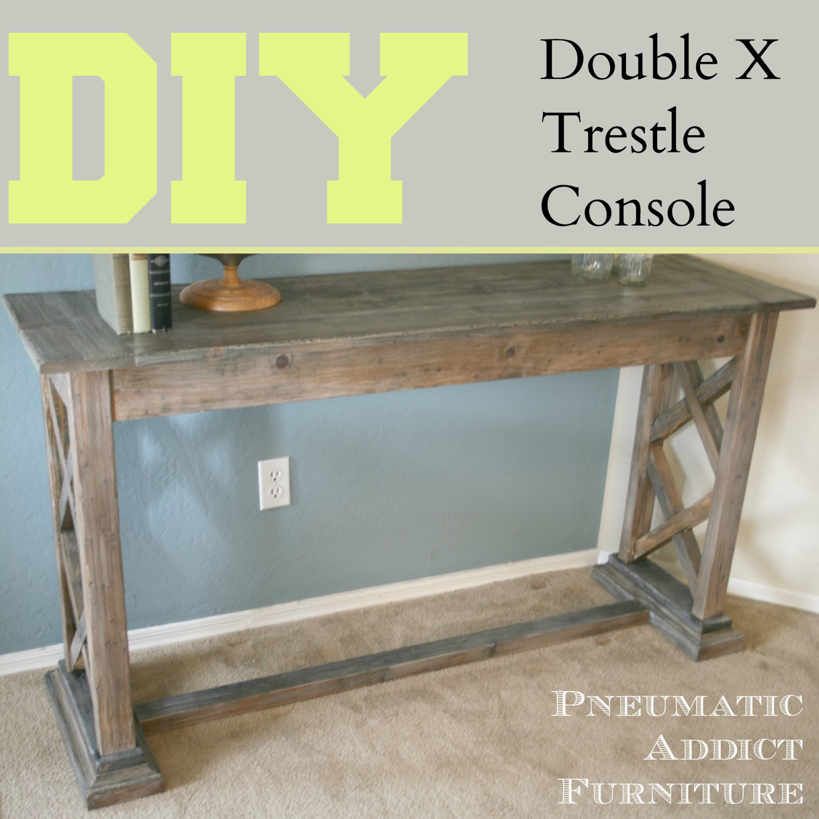 Double X Trestle Console Pneumatic Addict