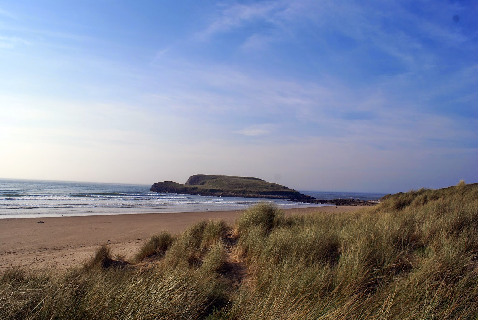 llangenith bay gower south wales swansea sea uk britain beach