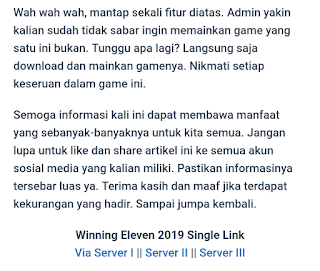memilih server download