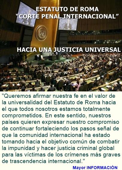 Quienes firmaron apoyo a la Corte Penal Internacional.