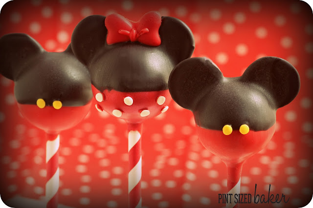 Mickey And Minnie Mouse Cake Pops Pint Sized Baker