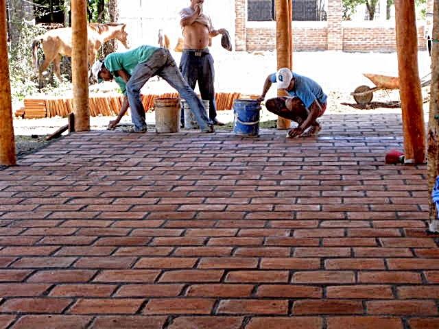Rancho nica construcciones t picas nicarag enses productos - Patio piso de ladrillo ...