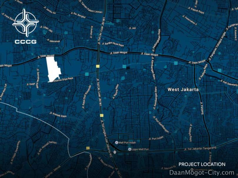 Lokasi Daan Mogot City Jakarta