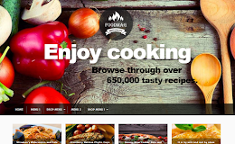 FoodMag Blogging blogger template