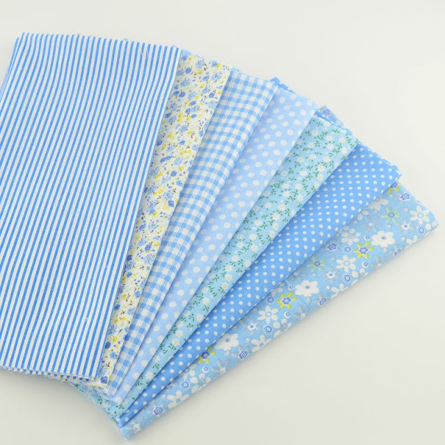 Booksew Cotton Fabric light Blue Color Various Design Fat Quarter Pillow Quilting Meter Sewing Texitle Tissue Patchwork Curtain