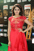 Saisha looks Glamorous Super cute in Transparent Red Gown at IIFA Utsavam Awards 011.JPG