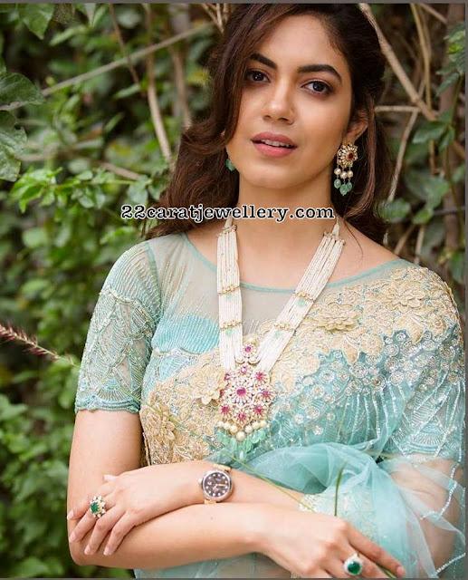 Ritu Varma Pearls Long Chain