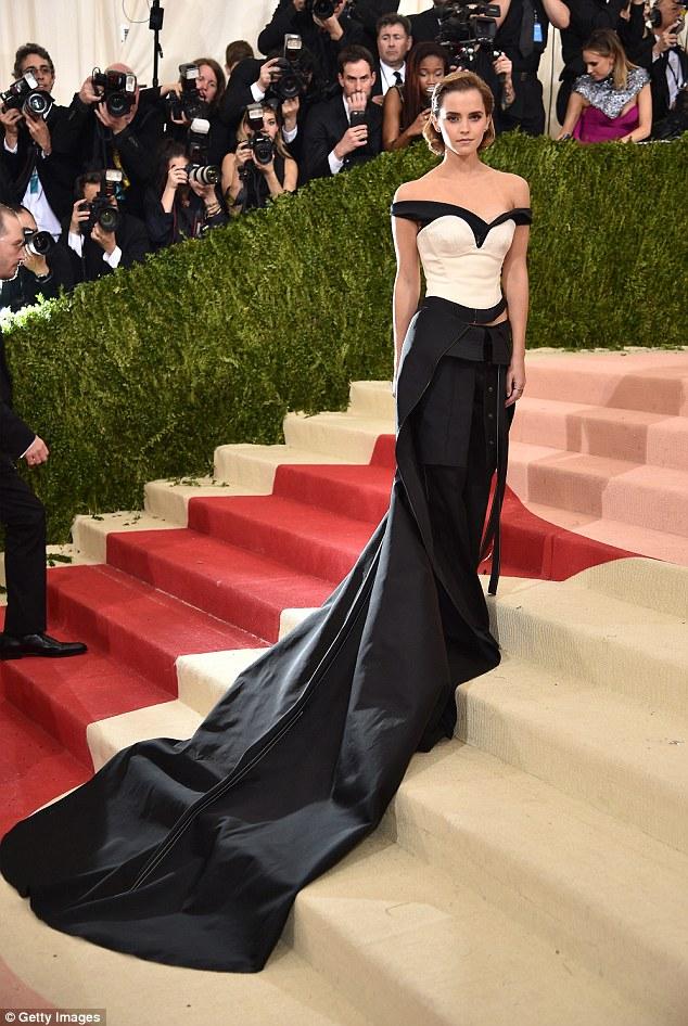 Emma Watson bares skin at the Met Gala 2016
