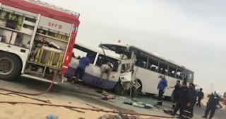 اخبار اليوم العاجلة تفاصيل حادث تصادم حافلتين لنقل العاملين بالكويت ومن بينهم 5 مصريين
