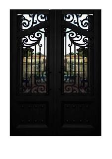 Gambar, Pintu, Besi, Tempa, Klasik, Rumah, Mewah