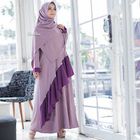 ANDHIMIND Gamis Dress Mutiara Rosy Purple
