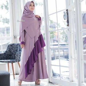 Gamis Dress Mutiara Rosy Purple