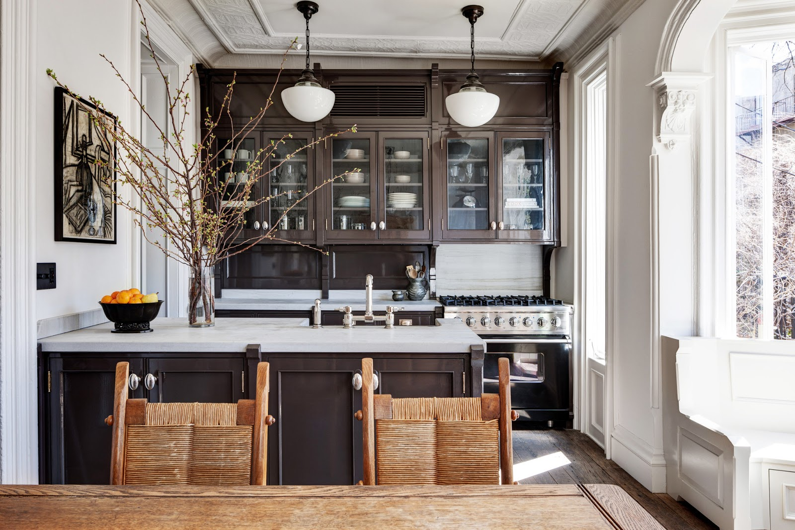 Decor a brooklyn brownstone renovation by roman and for New york brownstone interior design