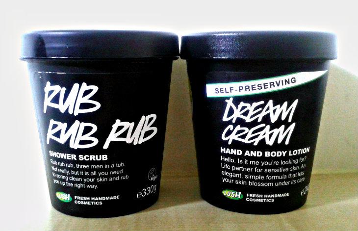 LUSH Rub Rub Rub and Dream Cream