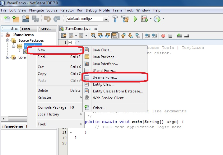 How to set background image to jFrame form in netbeans | Java source