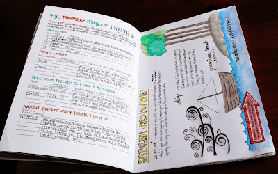 my personal study page and a freebie coloring page for scripture