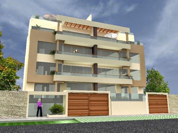 Fachadas de edificios de departamentos fachadas de casas for Fotos de casas modernas en lima peru