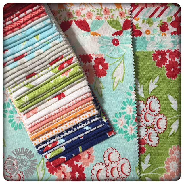 Hello Darling and Miss Kate Fabric by Bonnie and Camille for Moda. Thistle Thicket Studio